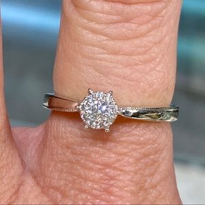 10k White Gold 0.25ctw Diamond Engagement Ring